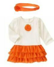 NWT 2pc Gymboree Happy Harvest Pumkin Tutu Dress Size 18-24 months Fall