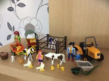 Playmobil Farm, Country Barn Accessories, Tractor, Horses Preowned