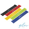 Gln Sports Set of 5 Exercise Loops 5 Level Resistance Bands w/Carry Bag