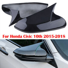 For Honda Civic 2016-2019 Carbon Fiber style Side Rearview Mirror Cover Trim