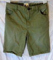 Boys TU Khaki Green Soft Denim Adjustable Waist Long Board Shorts Age 5 Years