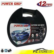 12A140 Catene Neve Power Grip 12mm Omologate Gruppo 140 pneumatici 225//75r16