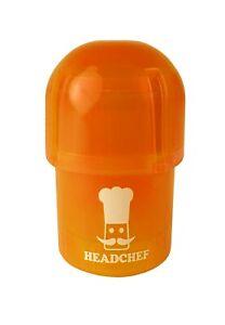 Headchef Pod Grinder / Storage Pot - Water tight - Orange