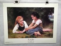 """The Nut Gatherers - William Adolphe Bouguereau - Lithograph Art Print 22"""" x 28"""""""