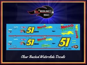 "1/64 'Days of Thunder #51' ""Mello Yellow"" Decal Set SCR-1082"