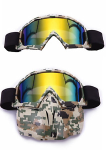Gafas Enmascarar Cross Quad Snowmobile Y Scrambler Jet