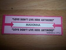 """1 Madonna Love Don't Live Here Anymore Jukebox Title Strip CD 7"""" 45RPM Records"""