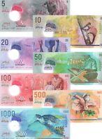 UNC MALDIVES Set 5 10 20 50 100 500 1000 Rufiyaa POLYMER (2015-17) P-A26-31