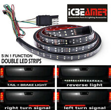 "ICBEAMER 60"" 2 Row LED Waterproof Tailgate Strip Light Bar Color: White  Red C38"