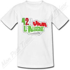 T-shirt Adulte one two three 123 viva l'Algérie - du S au 2XL