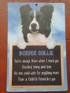 Border Collie dog BORDER COLLIES sign faithful friend dog quote sheepdog dogs