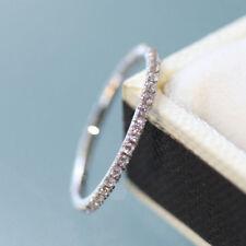 Diamond Ultra Skinny Full Eternity Ring in 18ct White Gold size UK J