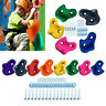 10pcs Climbing Stones Wall Rock Holds For Kid Indoor Outdoor With Fixing Set