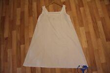 Vintage Omas altes Nacht-Unterhemd / weißes Hemd Leinenkleid