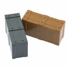 Custom Military Army Crates Kit Compatible for Lego Set Minifigure Accessories
