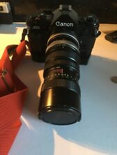 Canon A-1 SLR Film Camera With Two Lenses And Power Winder