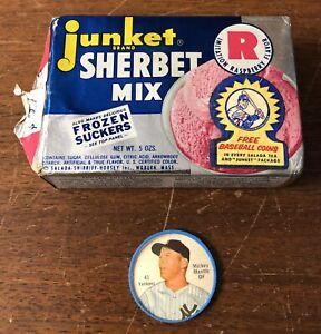 INCREDIBLY RARE High Grade 1962 Mickey Mantle Salada Junket Coin W/Original Box