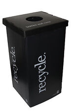 Commercial / Personal Recycle Bin, Corrugated Plastic, 30 Gallon (15 x 15 x 30)