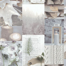 ARTHOUSE RETREAT NATURAL FLORAL LOGS CANDELS QUALITY FEATURE WALLPAPER 669500