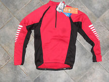 CRANE CYCLING TOP RED BLACK SMALL NEW