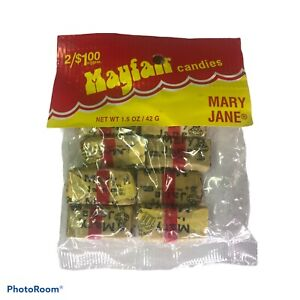 Necco Mary Jane Candy Pieces - Molasses Peanut Butter Chews- Sealed Bag- 8 Count