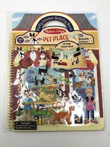 NIB Melissa and Doug  PUFFY STICKER ACTIVITY BOOK Pet place Kids Book Activity