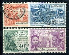 MADAGASCAR 1931 Yvert 179-182 gestempelt SATZ REVOLUTION (F4392
