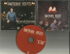 HAWTHORNE HEIGHTS I am on your Side PROMO DJ CD Single 2006 w/ PRINTED LYRICS
