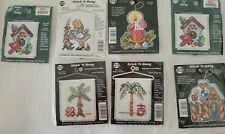 Stitch 'N Hang Counted Cross Stitch - 18 Count Aida Fabric - 7 Designs
