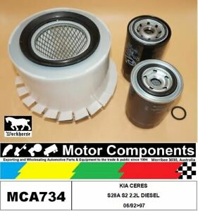 FILTER SERVICE KIT for KIA CERES S28A S2 2.2L DIESEL 06/92>97