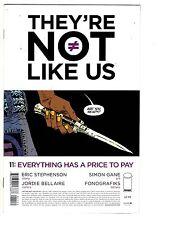 2 They're Not Like Us Image Comic Books # 11 12 Eric Stephenson Simon Gane WM7