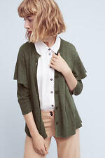 Anthropologie  Ruffled Shoulder  Cardigan Sweater  NWT new size SMALL
