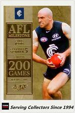 2012 Select AFL Champions Milestone Card MG10 Chris Judd (Carlton)