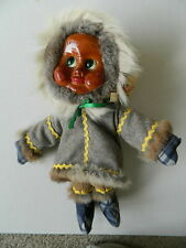 1983 Vintage Naber Eskimo Doll Milli Molli Retired #2070 Wood Dangle Legs Alaska