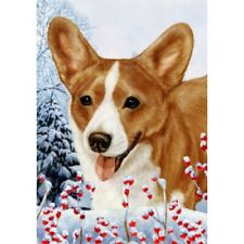 Winter House Flag - Red and White Cardigan Welsh Corgi 15243