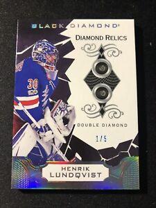 2018-19 Henrik Lundqvist Black Diamond Double Diamond #'d 1/5