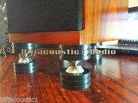 3Set H2 Speaker Spike Isolation Feet Solid Steel Graphite Amplifier Stand Base