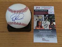 Barry Larkin Cincinnati Reds HOF Autograph Signed Rawlings MLB Baseball JSA COA