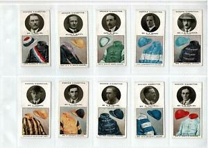 1926 OGDENS CIGARETTE CARDS TRAINERS & OWNERS COLOURS 2nd Series FULL SET 25 VG