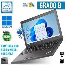 "Lenovo THINKPAD X240 i5 12,5"" Touch Screen Touchscreen PC Windows 11 Gewerbe"