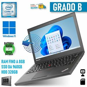 "Lenovo THINKPAD X240 i5 12,5"" Écran Tactile PC Windows 11 Entreprise"