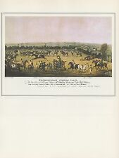 """1974 Vintage HORSE RACE """"EXTRAORDINARY STEEPLE CHASE"""" CLASHER CLINKER Lithograph"""