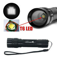 20000LM Ultrafire 3-Mode T6 LED Flashlight Zoomable Super Bright Hike Torch Lamp