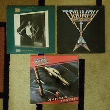 80s Rock: 3 LP Lot, Rainbow, Triumph, April Wine, EX!