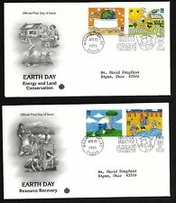#2951-2954 32c Earth Day- Set of 4 on 2 PCS FDCs w/ Info Page