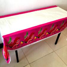 La Sirenita Ariel 110cm*180cm Rosa Mantel Feliz Cumpleaños Fiesta