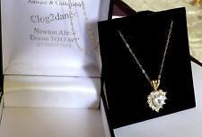 Pendentif Coeur Cristal mousseux Amour Coeur - 9 ct solid gold chain-SUPERBE