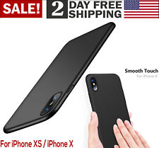 For iPhone X Case Slim Fit Shell Hard Plastic PC Ultra Thin Matte Finish BLACK