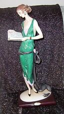"""Giuseppe Armani """"Lady With Book"""" Figurine #384C Retired Limited Edition"""