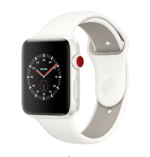 Apple Watch Edition Series 3 38 mm Bianco Ceramica-Morbido Bianco/Pebble Sport Band